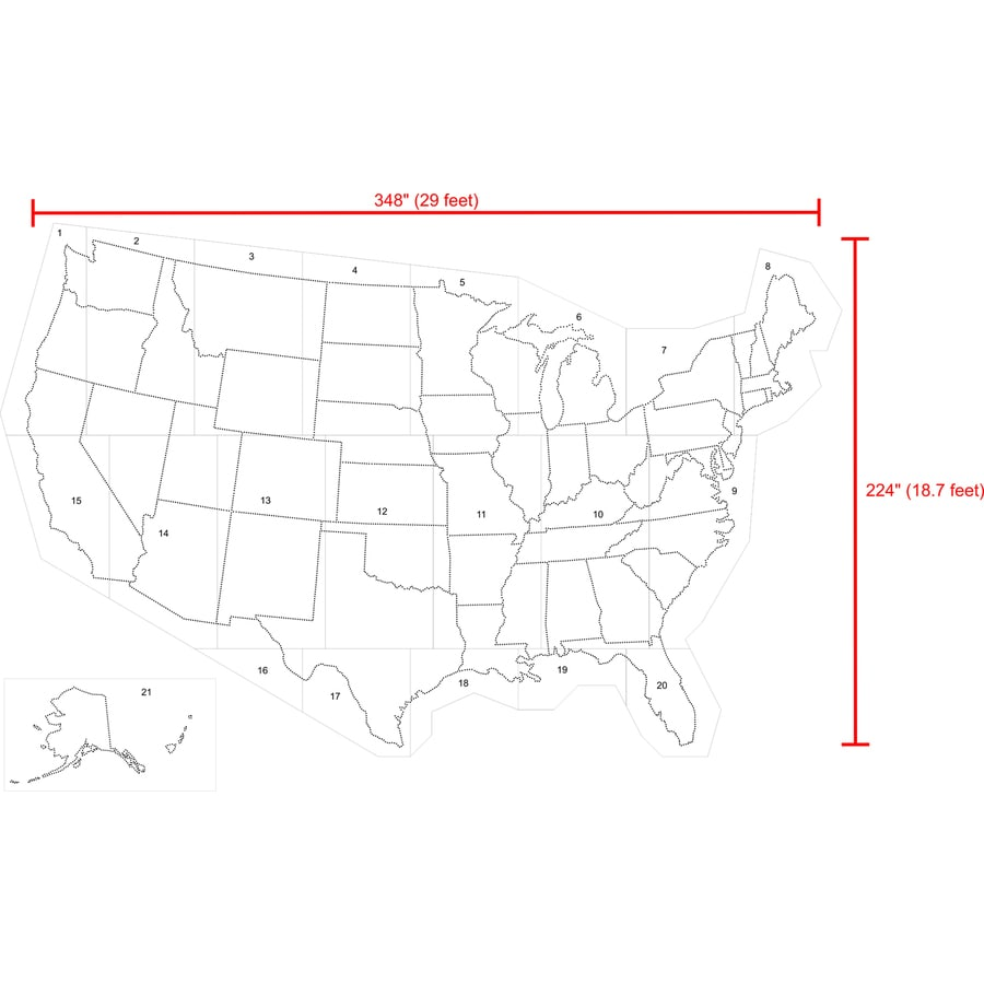Shop Stencil Ease 29 x 19 United States Map Stencil at Lowescom