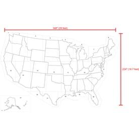 stencil ease 29 x 19 united states map stencil