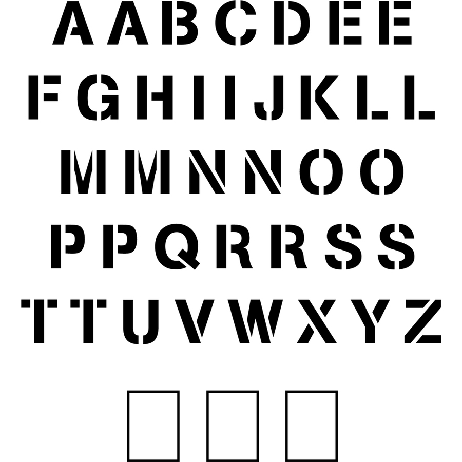"Stencil Ease 8"" Arial Uppercase Alphabet"