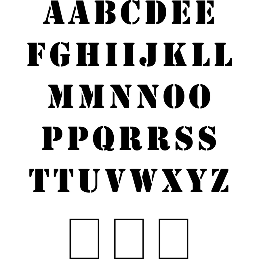 "Stencil Ease 48"" Uppercase Alphabet Stencil"