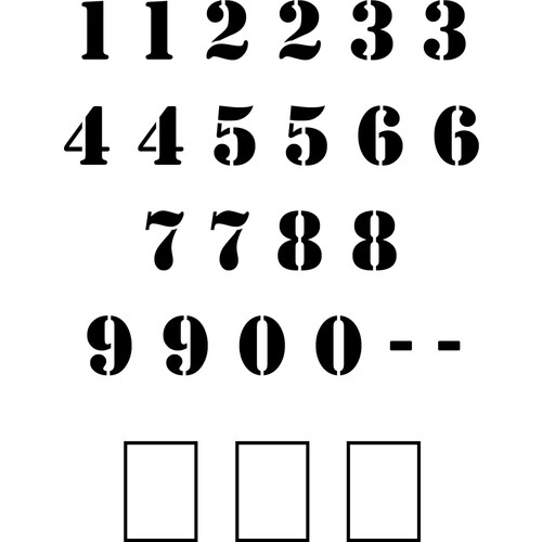 """Stencil Ease 24"""" Number Set Stencil in the Stencils ..."""