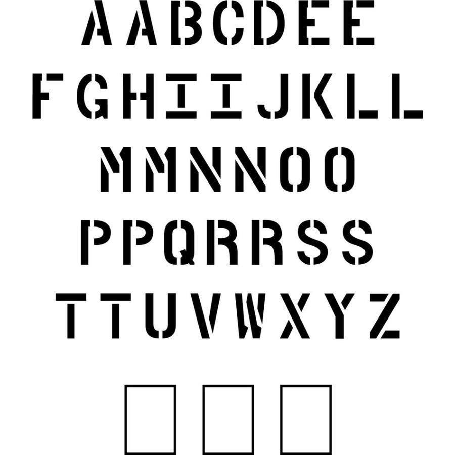 Stencil Ease 18-in Uppercase Alphabet Paint Stencil