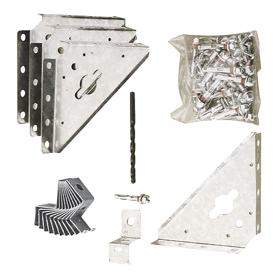 Shop Arrow Galvanized Steel Storage Shed Anchor Kit At