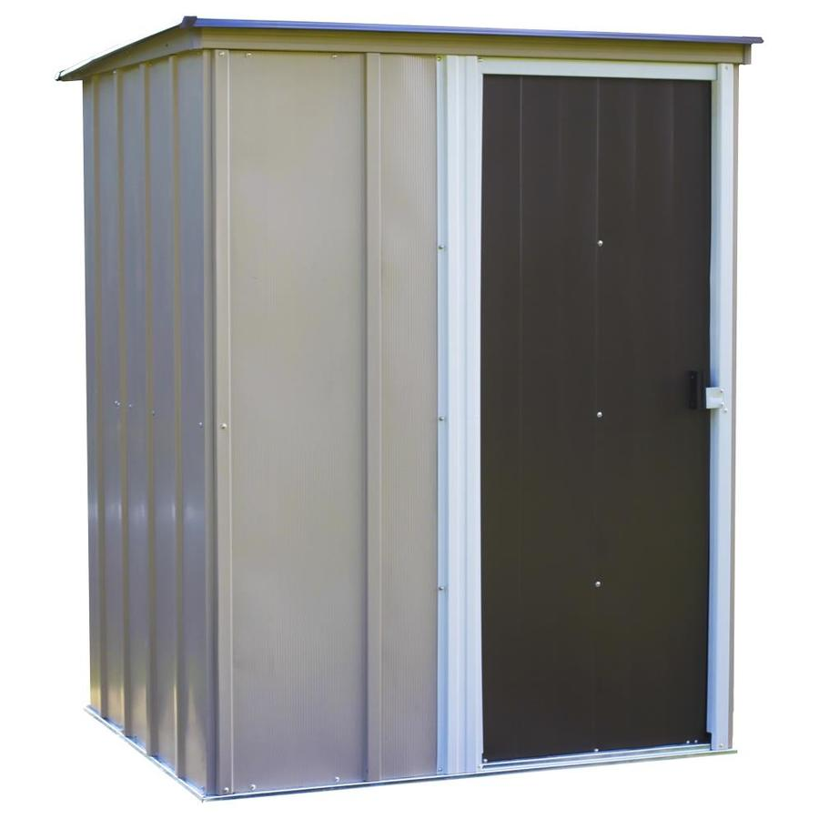 Arrow Galvanized Steel Storage Shed (Common: 5-ft x 4-ft; Interior Dimensions: 4.52-ft x 3.59-ft)