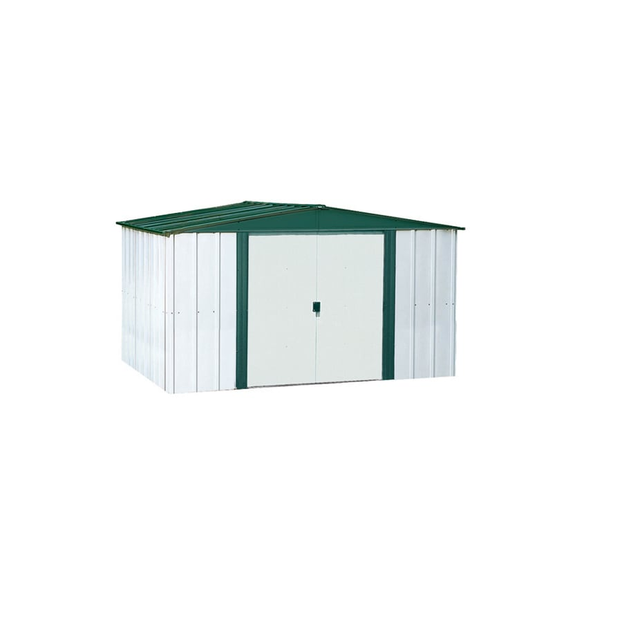 Shop arrow galvanized steel storage shed common 6 ft x 5 for Garden shed 5 x 4