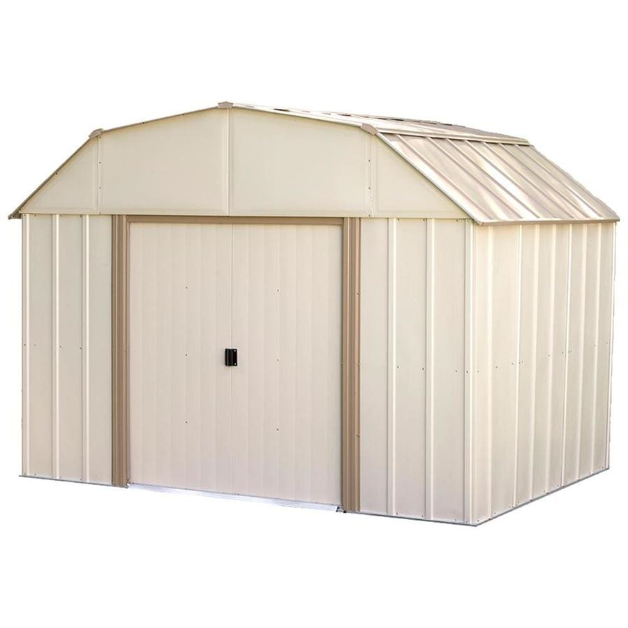 Arrow (Common: 10-ft x 8-ft; Interior Dimensions: 9.8500-ft x 7.5000-ft) Galvanized Steel Storage Shed