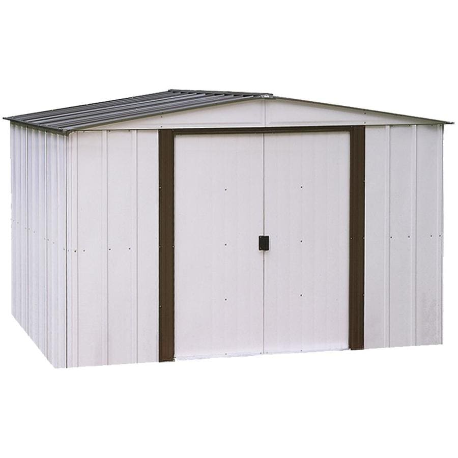 Arrow Galvanized Steel Storage Shed (Common: 10-ft x 8-ft; Interior ...