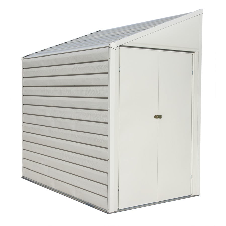 Arrow Galvanized Steel Storage Shed (Common: 4-ft x 7-ft; Interior Dimensions: 3.98-ft x 6.46-ft)