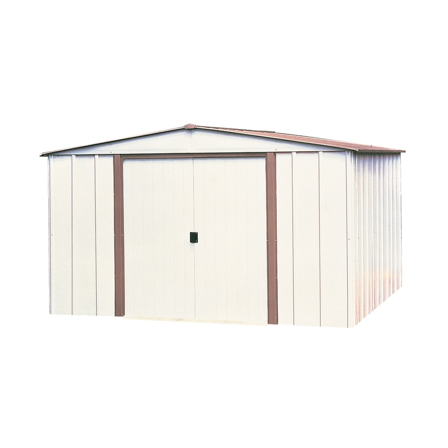 Arrow (Common: 8-ft x 6-ft; Interior Dimensions: 7.9000-ft x 5.5000-ft) Galvanized Steel Storage Shed