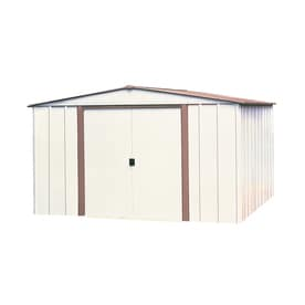 Arrow (Common: 8-ft x 6-ft; Interior Dimensions: 7.9-ft x 5.5-ft) Galvanized Steel Storage Shed