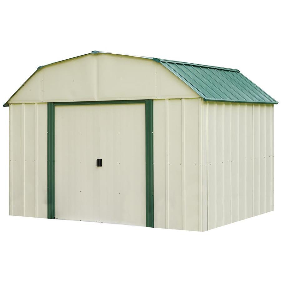 Shop Arrow Vinyl Coated Steel Storage Shed Common 10 Ft