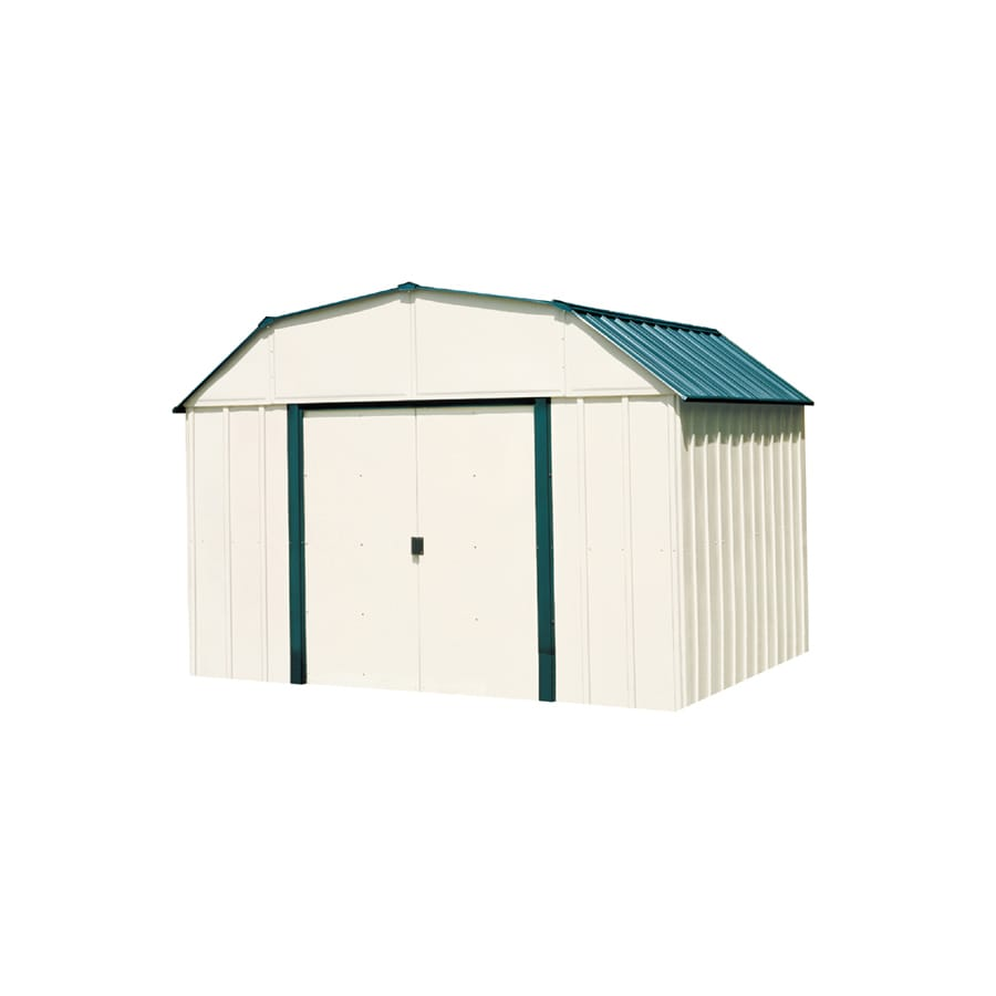 Arrow Vinyl-Coated Steel Storage Shed (Common: 10-ft x 14-ft; Interior Dimensions: 9.85-ft x 13.13-ft)