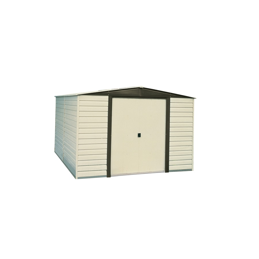 Arrow Vinyl-Coated Steel Storage Shed (Common: 10-ft x 6-ft; Interior Dimensions: 9.85-ft x 5.5-ft)
