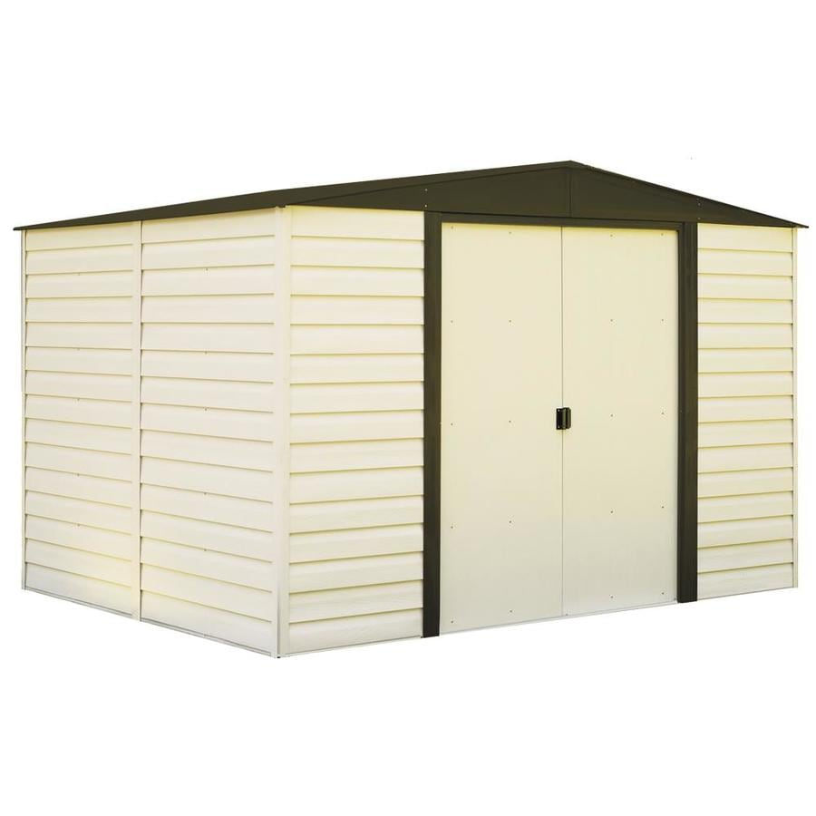 Arrow Vinyl-Coated Steel Storage Shed (Common: 10-ft x 8-ft; Interior Dimensions: 9.85-ft x 7.5-ft)