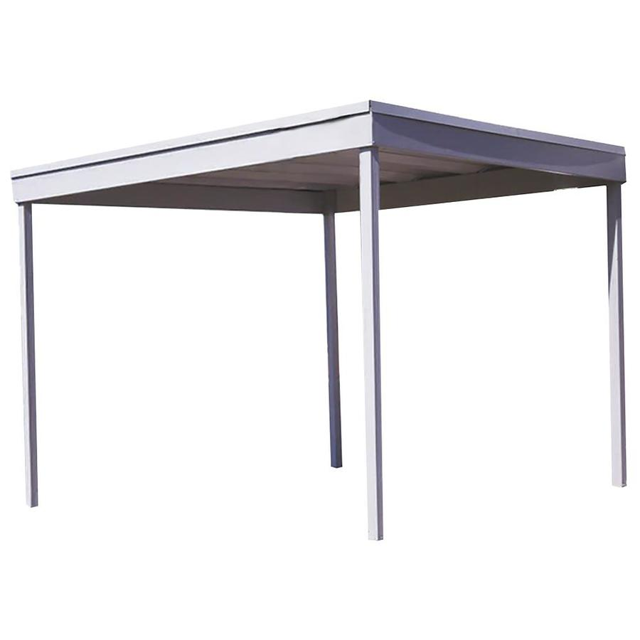 Arrow 10.07-ft x 10.13-ft x 8-ft Eggshell Metal Single Car  sc 1 st  Loweu0027s & Shop Carports u0026 Patio Covers at Lowes.com
