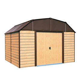 Arrow (Common: 10-ft x 14-ft; Interior Dimensions: 9.85-ft x 13.13-ft) Galvanized Steel Storage Shed
