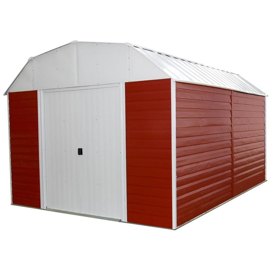 Shop arrow galvanized steel storage shed common 10 ft x for Barn storage shed