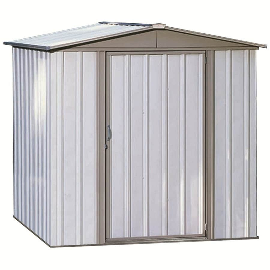 Shop arrow sentry galvanized steel storage shed common 6 for Lowes storage sheds