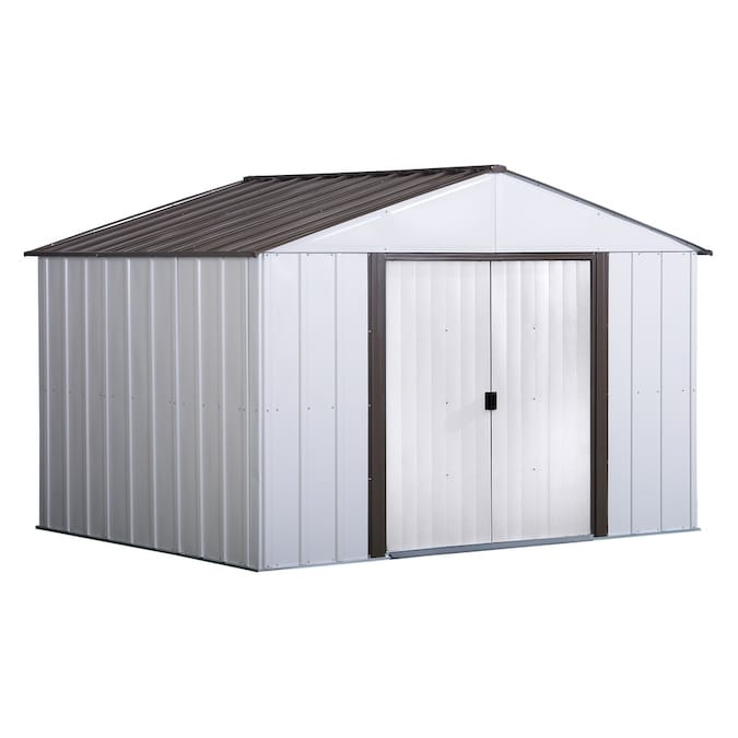 Arrow Common 10 Ft X 8 Ft Interior Dimensions 9 85 Ft X 7 5 Ft Galvanized Steel Storage Shed In The Metal Storage Sheds Department At Lowes Com