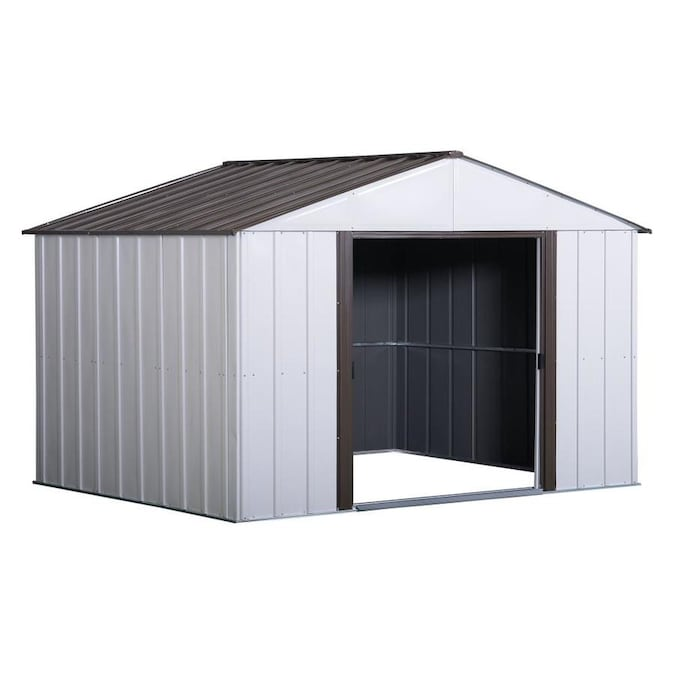 Arrow 10 Ft X 8 Ft High Point Galvanized Steel Storage Shed In The Metal Storage Sheds Department At Lowes Com