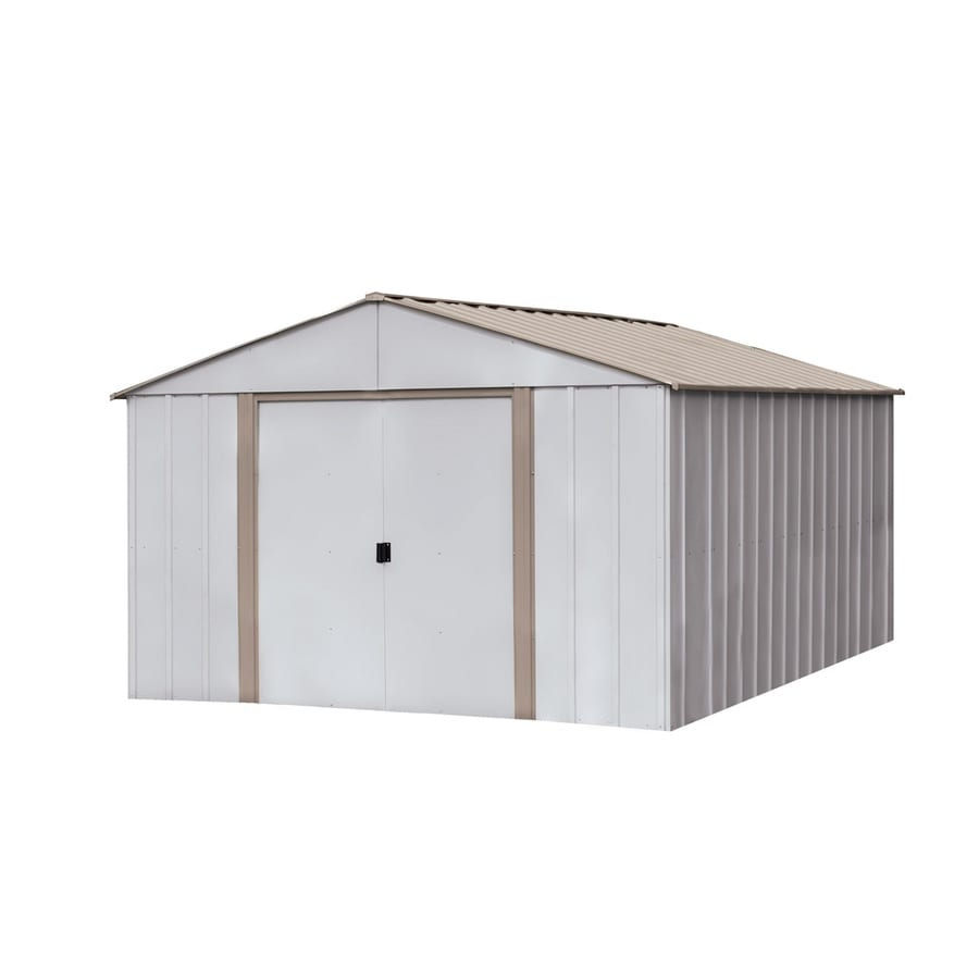 Elegant Arrow Oakbrook Galvanized Steel Storage Shed (Common: 10 Ft X 14 Ft