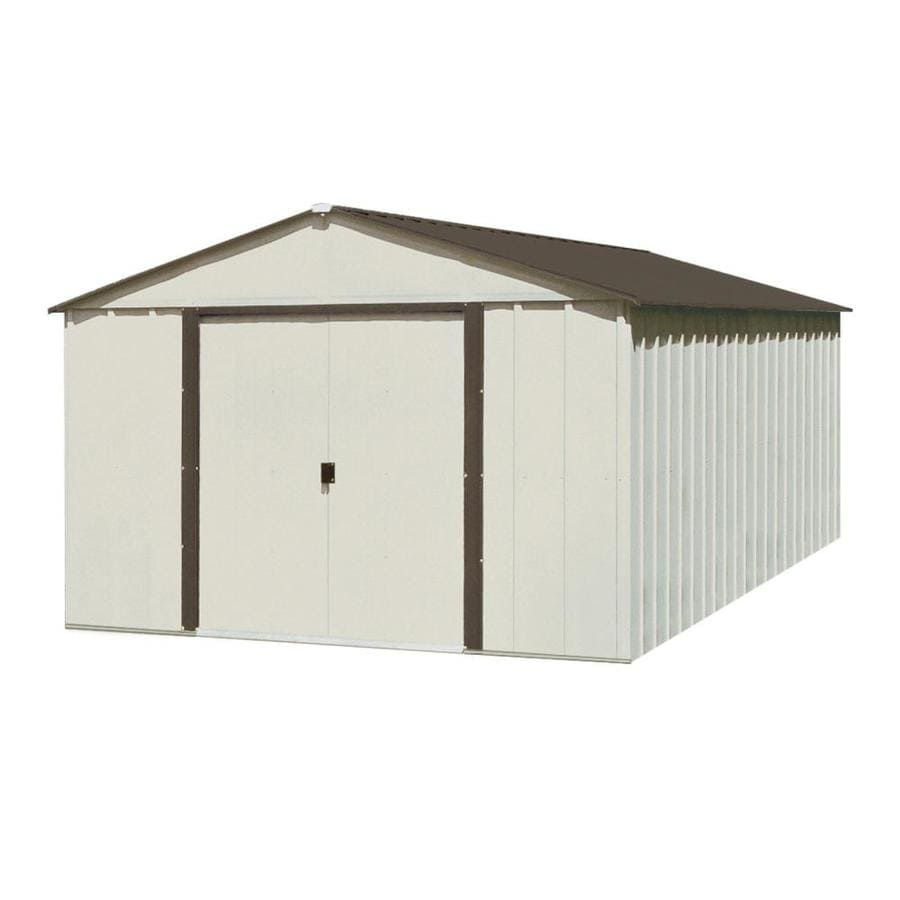 Shop arrow galvanized steel storage shed common 10 ft x for Garden shed 10x10