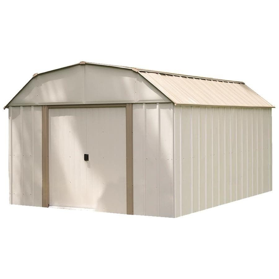 Shop arrow common 10 ft x 14 ft interior dimensions 9 for Aluminum sheds for sale