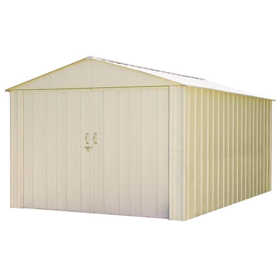 Arrow Commander Galvanized Steel Storage Shed (Common: 10-ft x 15-ft; Interior Dimensions: 9.9-ft x 15.1-ft)