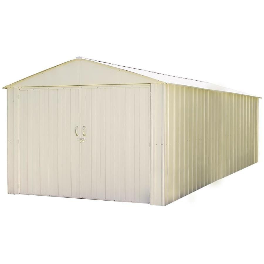 Arrow Commander Galvanized Steel Storage Shed (Common: 10-ft x 20-ft; Interior Dimensions: 9.9-ft x 19.9-ft)