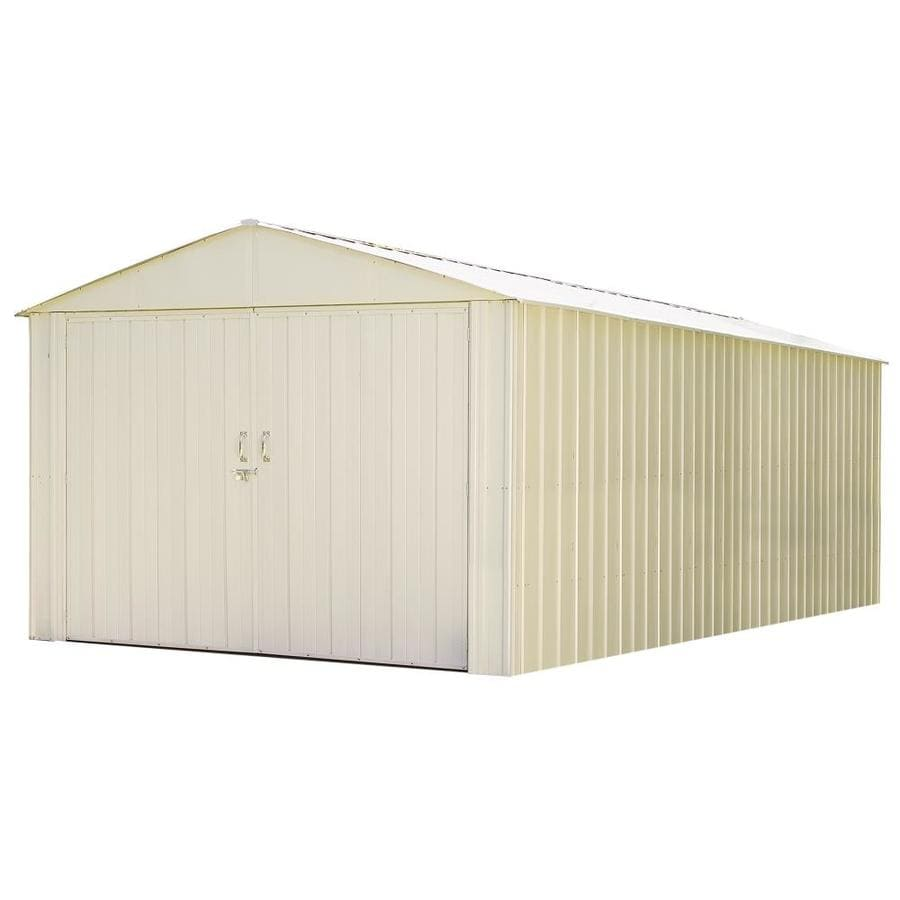 Arrow Commander Galvanized Steel Storage Shed (Common: 10-ft x 25-ft; Interior Dimensions: 9.9-ft x 24.7-ft)