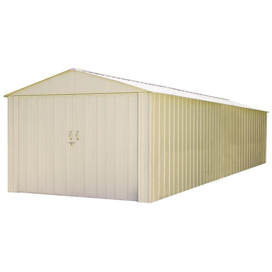 Shop arrow commander galvanized steel storage shed common for Garden shed 9 x 5