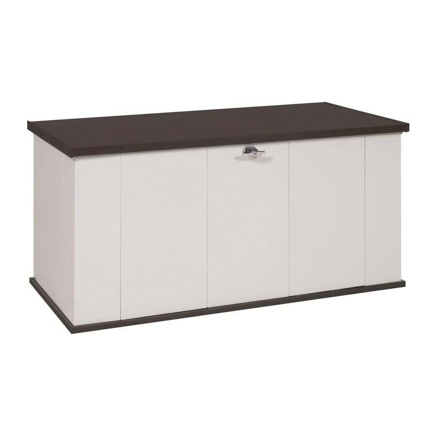 STORBOSS Viking Storage 29.8-in L x 57.4-in W 135.5-Gallon Vanilla Steel Deck Box