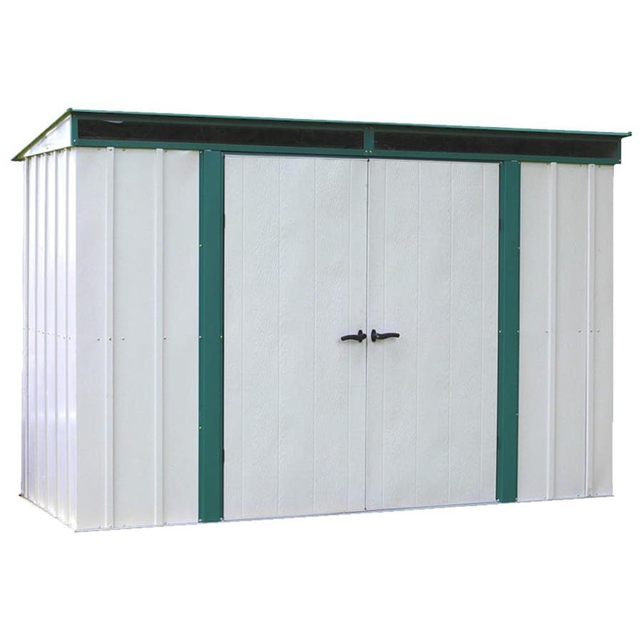 Arrow Euro-Lite™ Galvanized Steel Storage Shed (Common: 10-ft x 4-ft; Interior Dimensions: 9.85-ft x 3.9-ft)