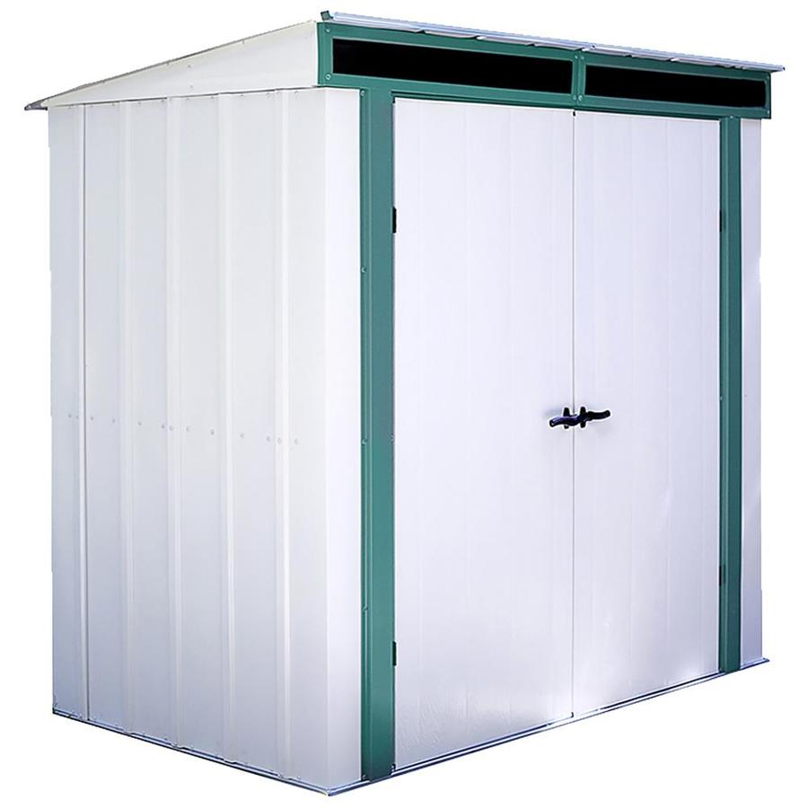 Arrow Euro-Lite™ Galvanized Steel Storage Shed (Common: 6-ft x 4-ft; Interior Dimensions: 6.39-ft x 3.9-ft)