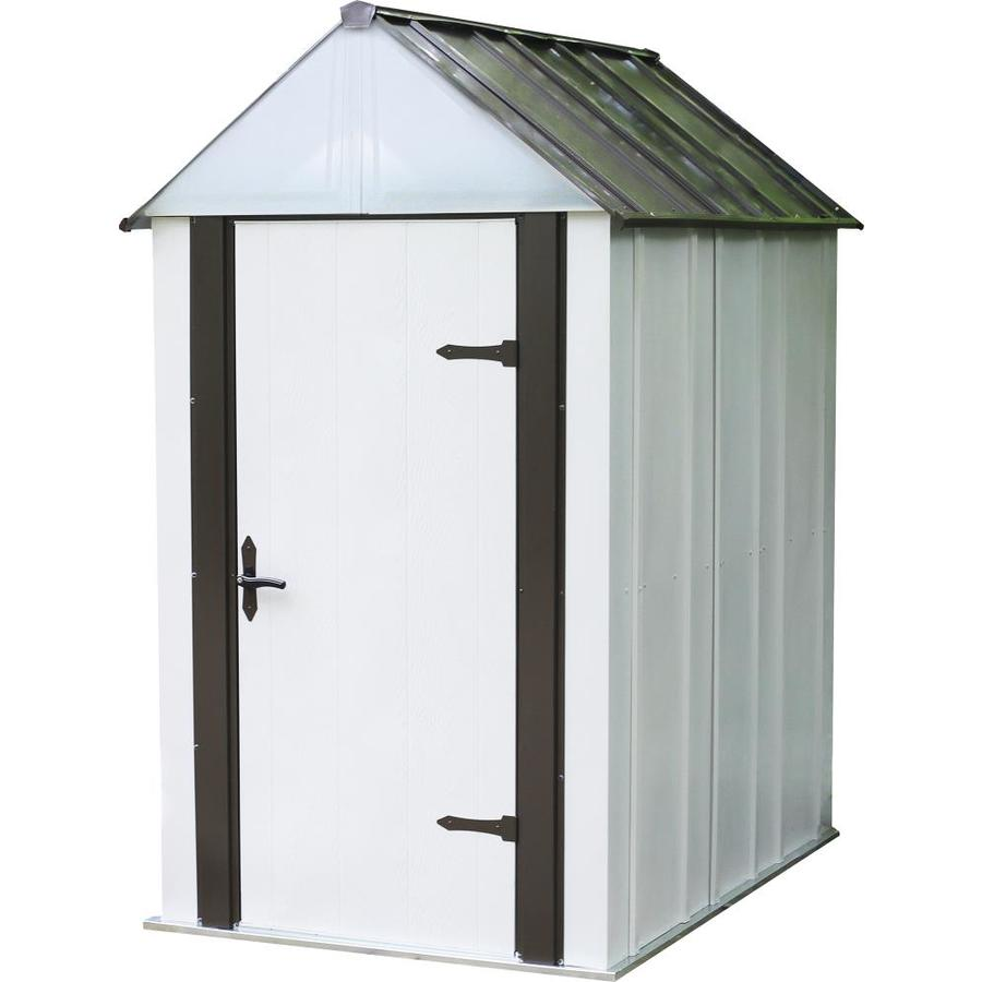Arrow (Common: 4-ft x 6-ft; Interior Dimensions: 4.09-ft x 5.94-ft) Designer Galvanized Steel Storage Shed