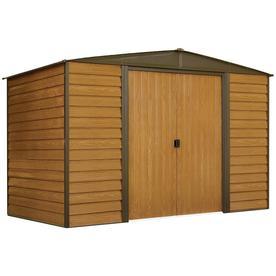 arrow woodridge galvanized steel storage shed common 10 ft x 6 ft