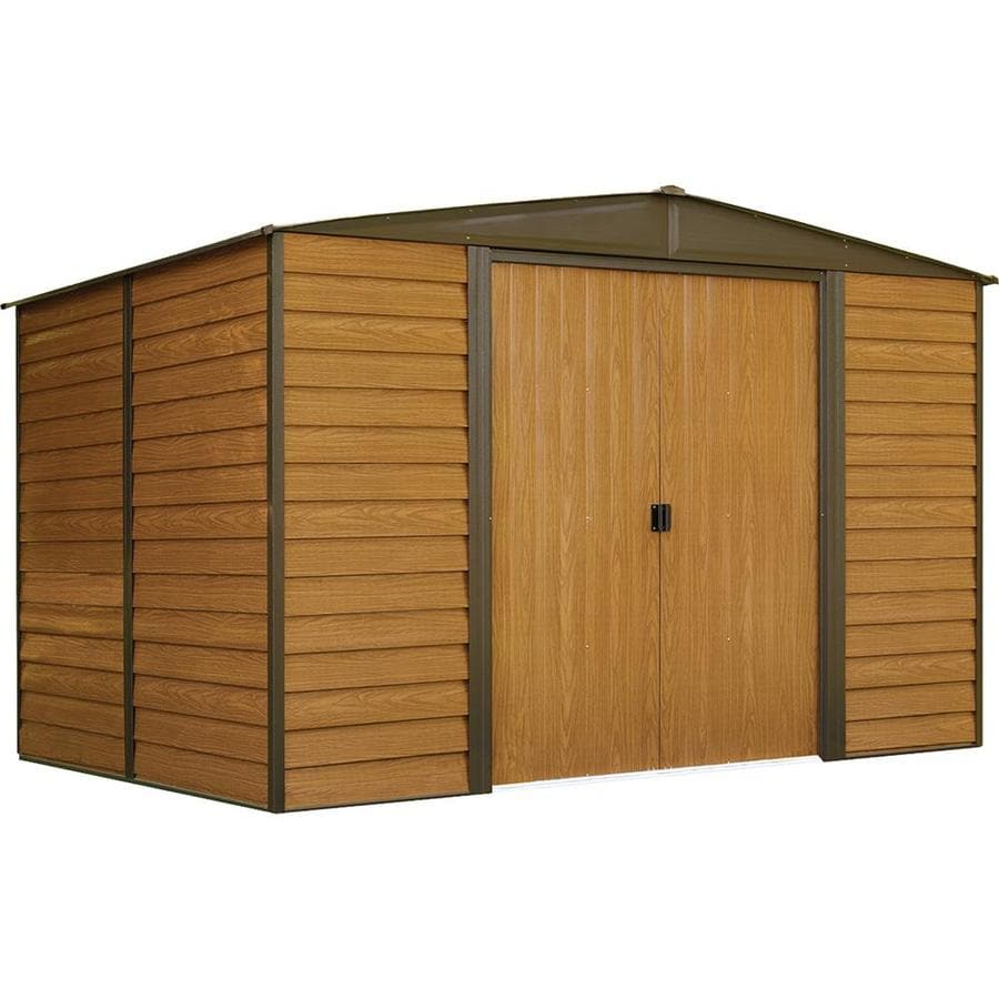 Arrow Woodridge Galvanized Steel Storage Shed (Common: 10-ft x 8-ft; Interior Dimensions: 9.85-ft x 7.5-ft)