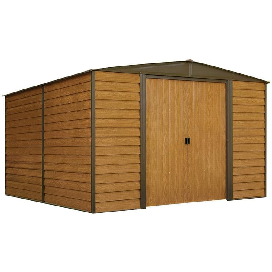 Arrow Woodridge Galvanized Steel Storage Shed (Common: 10-ft x 12-ft; Interior Dimensions: 9.85-ft x 11.71-ft)