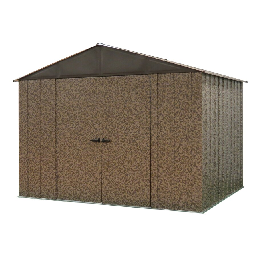 Arrow Camo Galvanized Steel Storage Shed (Common: 10 Ft X 8 Ft
