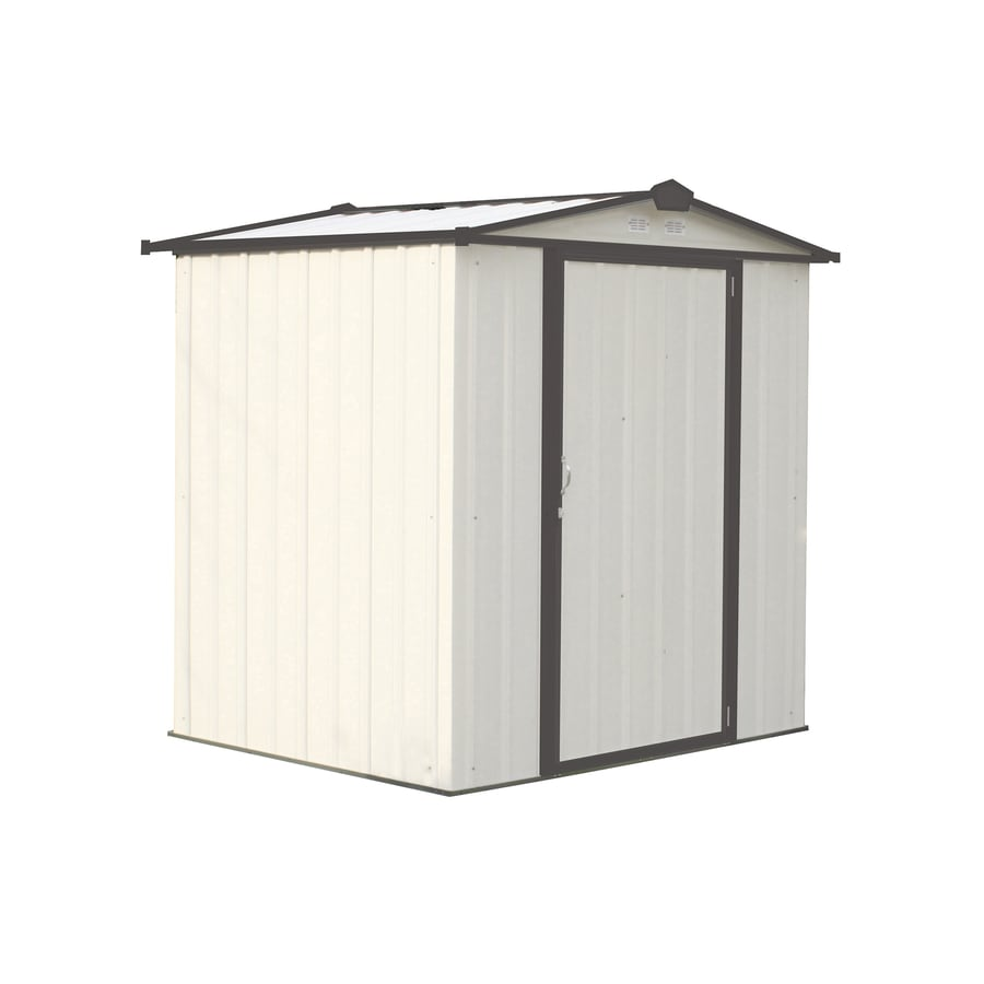 Shop Arrow Galvanized steel Storage Shed (Common: 6-ft x 5-ft ...