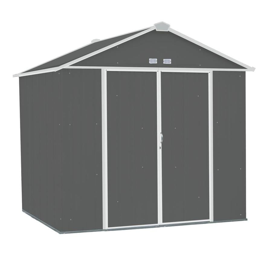 Arrow (Common: 8-ft x 7-ft; Interior Dimensions: 7.5-ft x 6.5-ft) EZEE Shed Galvanized Steel Storage Shed