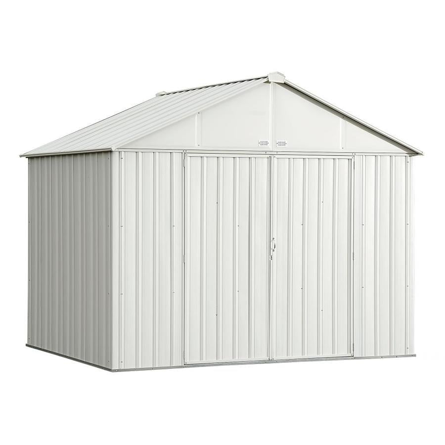 Arrow (Common: 10-ft x 8-ft; Interior Dimensions: 9.5-ft x 7.5-ft) Galvanized Steel Storage Shed