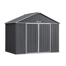 Arrow (Common: 10-ft x 7-ft; Interior Dimensions: 9.5-ft x 6.5-ft) EZEE Shed Galvanized Steel Storage Shed