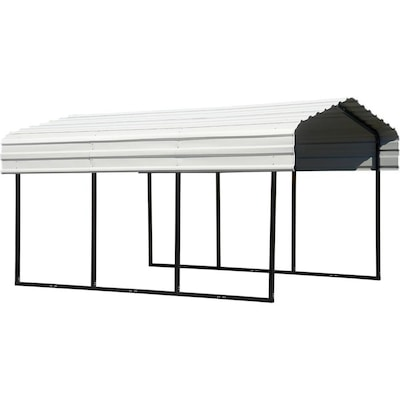 Arrow 10-ft x 15 27-ft Eggshell Metal Carport at Lowes com
