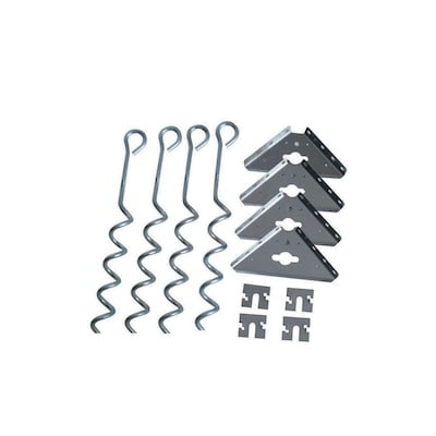 Arrow Galvanized Steel Storage Shed Anchor Kit at Lowes com