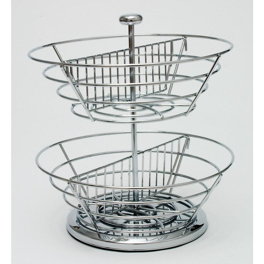 Lipper International 2 Tier Revolving Chrome Basket Coffee Pod Organizer