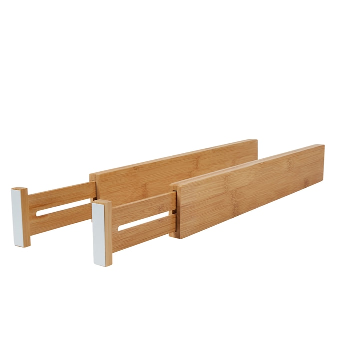 Lipper International 22 125 In X 2 5 In Bamboo Multi Use Insert Drawer Organizer In The Drawer Organizers Department At Lowes Com