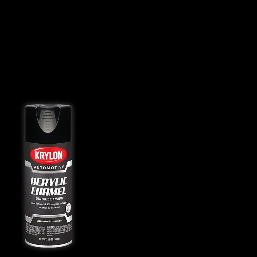 Krylon Krylon Automotive Black Enamel Spray Paint (Actual Net Contents: 12-oz)