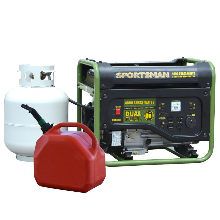 Sportsman Dual Fuel 3500 Running Watt Gasoline Propane Portable Generator