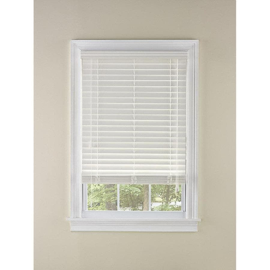 Custom Size Now by Levolor 2-in White Faux Wood Room Darkening Plantation Blinds (Common 27-in; Actual: 26.5-in x 72-in)
